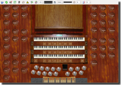 Screenshot of Piteå School of Music sampleset main console
